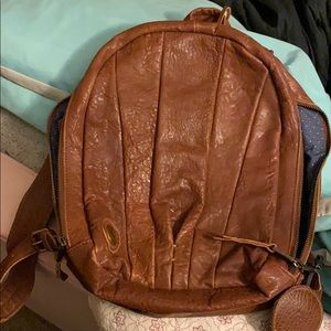 Wills leather goods brown backpack 13inches tall